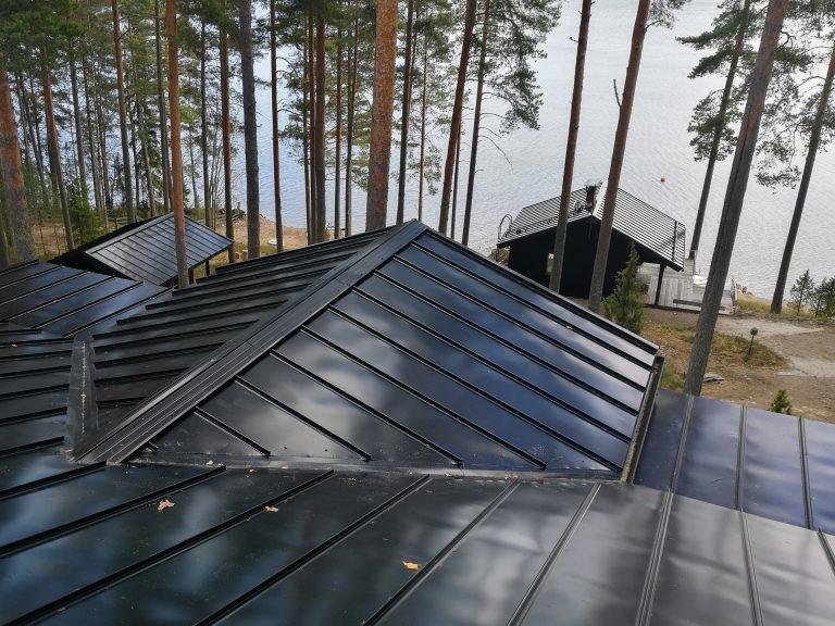 Lappeenranta-Asikkala musta peltikatto kattoremontti